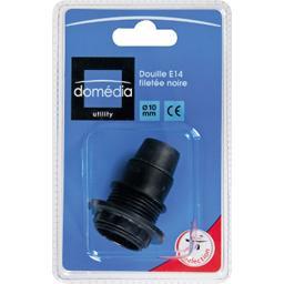 Utility - Douille E14 filetée noir D10 mm
