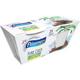 Pâturages Yaourt au lait entier saveur coco les 2 pots de 120 g