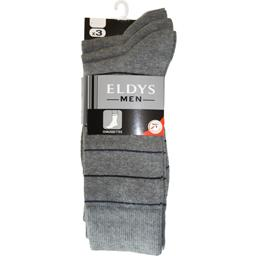 Mi-chaussettes homme rayures gris chiné / bleu t43/4...