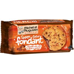 Cookies cœur fondant chocolat noir noix de pécan et ...