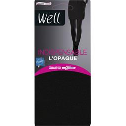 Indispensable - Collant L'Opaque T1/2 noir ébène