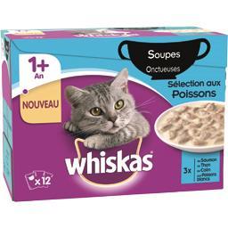 Soupes onctueuses sélection aux poissons pour chats