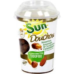 SUN Dou Chou Trio Toufou Cup Amandes Caramélisées/Arachides Caramélisées/Noisettes Caramélisées 250 g - Lot de 6
