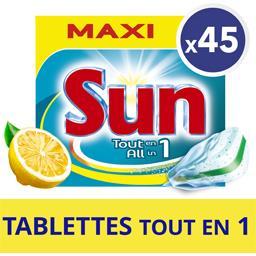 Tout en 1 - Tablettes lave-vaisselle double action citron
