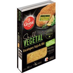 Grill Végétal - Escalopes Soja Blé citron herbes de ...