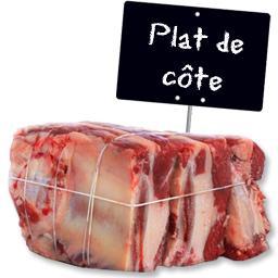 Le choix du Boucher Plat de Côte, RACE A VIANDE LIMOUSINE à partir de 500 gr