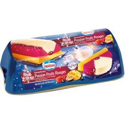 Bûche glacée Sensations passion fruits rouges