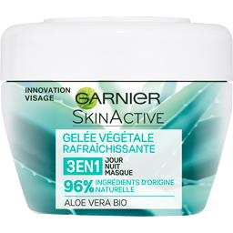 Garnier Gelée végétale rafraîchissante 3 en 1 aloe vera BIO le pot de 150 ml