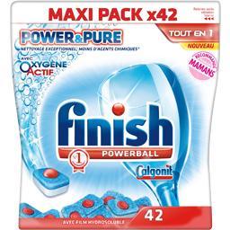 Powerball - Tablettes lave-vaisselle Tout en 1 Power & Pure