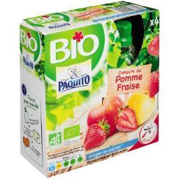 Compote de pomme fraise BIO allégée en sucres