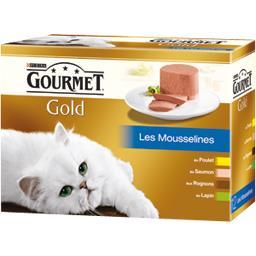 Gold - Les Mousselines poulet/saumon/rognons/lapin p...
