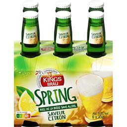 Boisson Spring avec de la bière sans alcool au jus d...