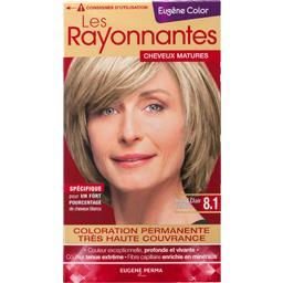 Coloration 8,1 blond clair cendré - Les Rayonnantes