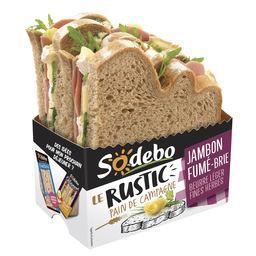 Le Rustic - Sandwich pain de campagne jambon fumé brie