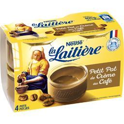 Nestlé La Laitière Petit pot de crème au café les 4 pots de 100 g