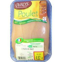 Escalopes de poulet x3