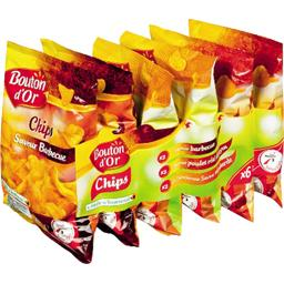 Assortiment de chips aromatisées