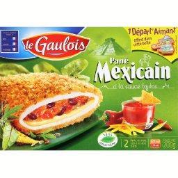 Panés du monde, panés de dinde recette mexicaine sauce fajitas et cheddar