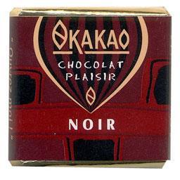 Carrés napolitains de chocolat noir 70% de cacao mini