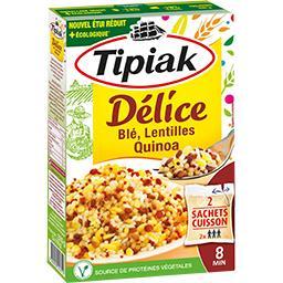 Tipiak Délice blé & lentilles fondant les 2 sachets de 165 g