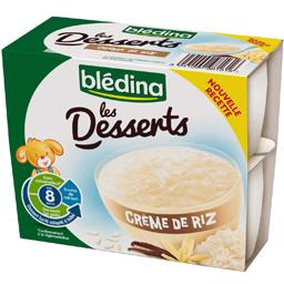 Desserts - Crème de riz, dès 8 mois