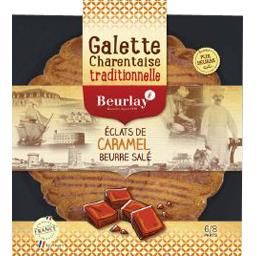 Beurlay Galettes Charentaise éclat de caramel beurre salé le paquet de 250 g