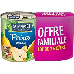 St Mamet St Mamet Poires Williams au sirop