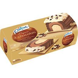 Bûche Exquise 3 chocolats