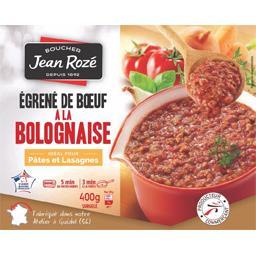 Jean Rozé Egrené de bœuf à la bolognaise le sachet de 400 g