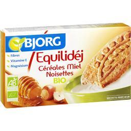 Biscuits Equilidéj céréales miel noisettes bio