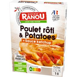 Poulet rôti & potatoes sauce ketchup