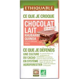 Chocolat au lait 42% rhubarbe quinoa BIO