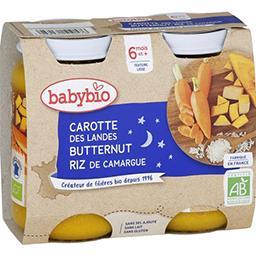 Bonne Nuit - Carotte des Landes, potimarron & riz BI...