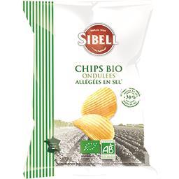 Chips ondulées allégées en sel BIO