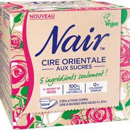 Nair Cire orientale aux sucres à l'extrait de rose
