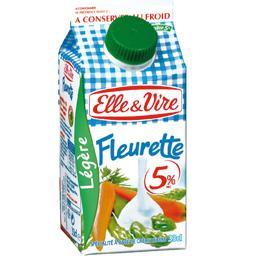 Fleurette extra-légère, spécialité laitière à 5% M.G.