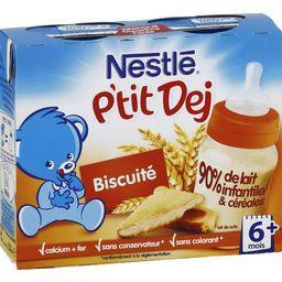 P'tit Dej - Céréale lactée biscuité, 6+ mois