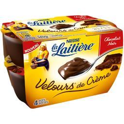 Velours de Crème - Crème dessert chocolat noir
