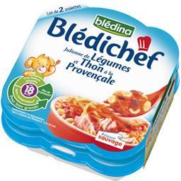 Blédichef - Julienne de légumes et thon à la provenç...