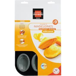 Moule à 9 madeleines en silicone, support rigide, gris