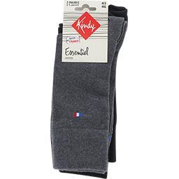 Chaussettes Essentiel coton 43-46 anthracite/noir