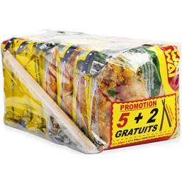 Wai Wai Nouilles instantanées saveur poulet curry les 5 paquets de 60 g