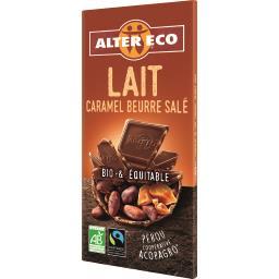 Chocolat au lait caramel beurre salé BIO