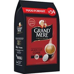 Grand'Mère Dosettes de café moulu Corsé la boite de 54 dosettes - 356 g