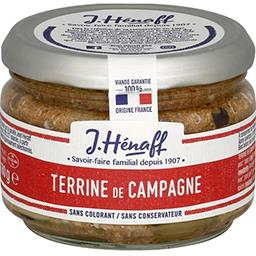 Terrine de campagne traditionnelle,HENAFF,le pot de 180 g
