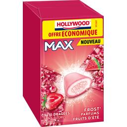 Hollywood Chewing gum Max parfums fruits d'été sans sucres les 3 boites de 20 g