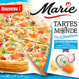 Marie Tartes du Monde - Tarte La Norvégienne saumon emment...