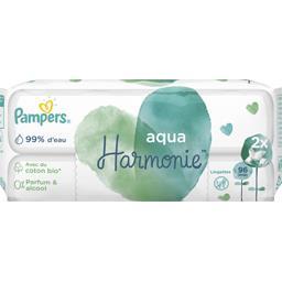 Pampers aqua harmonie 96lingettes pour bébé