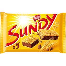 Sundy - Barres de céréales chocolat noir