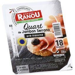 Quart de jambon Serrano pré-tranché